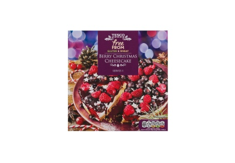 Free From Gluten and Wheat Berry Christmas Cheesecake