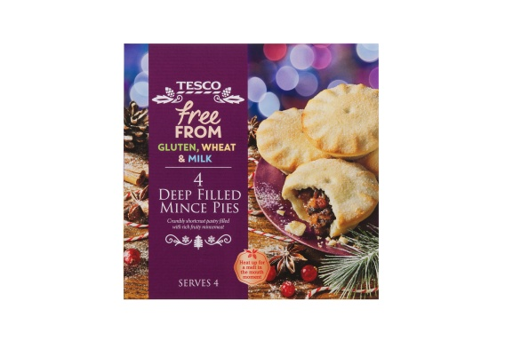 Free From Gluten, Wheat and Milk Mince Pies