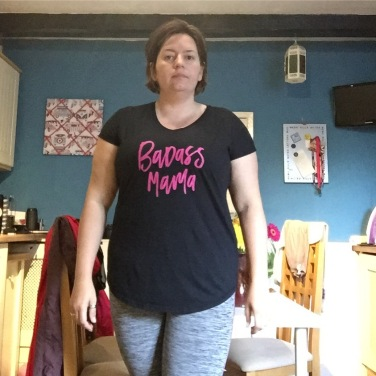 This mornings outfit @superchargedclub t. And my workout trousers. #ootd #dresslikeabrummum #mumuniform